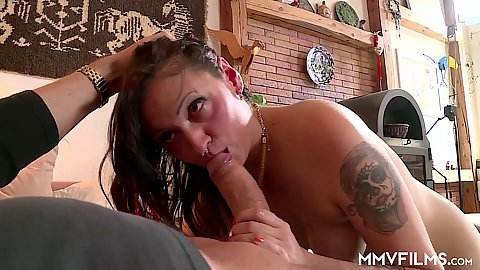 Perverted old man Donita enjoys nice mouth on his dick
