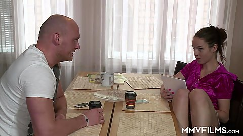 Having some tea with fully clothed Lola Wan needing porn tutor
