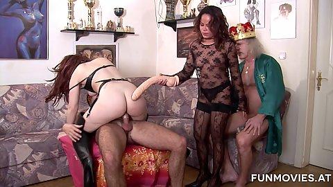Royal king and horny sluts Karin Wild