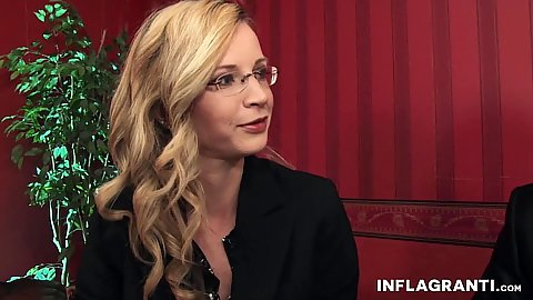 Friendly milf Annika  Rose wearing glasses and looking smart