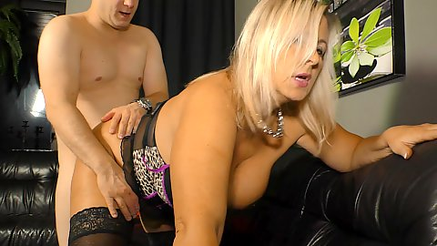 Lingerie big chested blonde Sexy Susi wants to titty fuck