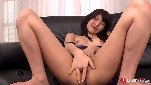 Nice little asian girl Kohashi Saki playing with her vagina solo