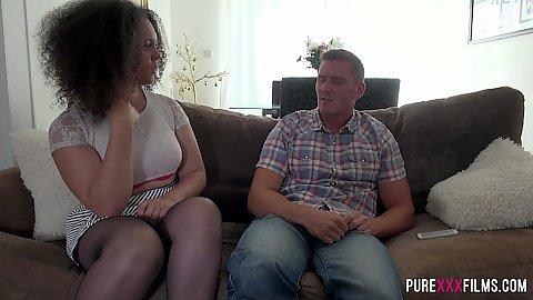 Sensual talking and hugging with latina Kloe White