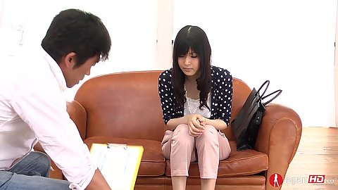 Skinny shy asian Nozomi Koizumi comes into casting