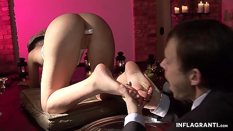 Feet love and kissing those awesome toes with charming Jessy Key