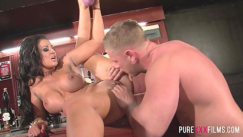 Pussy touching and frontal intercourse with Brooklyn Blue paying for the catering