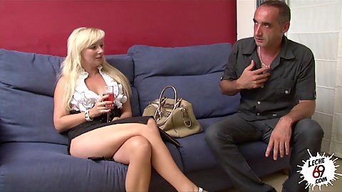 Blonde fully clothed is the slut secretary