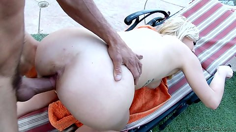 Rammed from behind and cock in mouth with dripping wet sluts Summer Day and Kelly Leigh