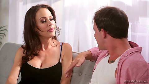 Fully clothed milf Mckenzie Lee is a cougar looking for younger meat