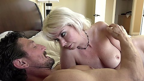 Blonde Kat Monroe wants some younger pussy in their family sex life