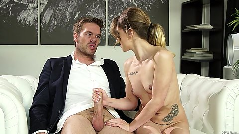 Handjob from college petite Alana Summers