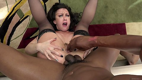 Big black cock rough sex pile driver and facial cumshot gang bang for white girl Jennifer White