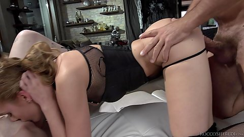 Threesome sex with lewd whores Charlotte Sartre and Linda Leclair