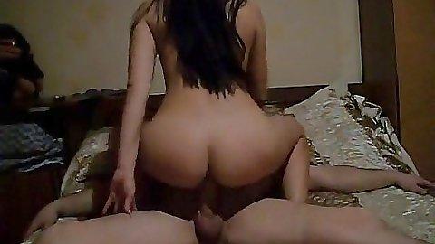 Milf sucking off her husband