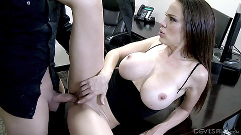 Man fucks lucky office slut Mckenzie Lee