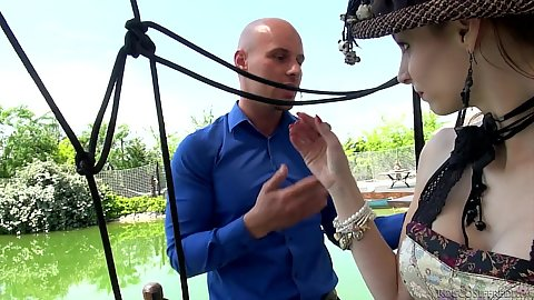 Lingerie outdoor rough sex in sex sling Mary Wet
