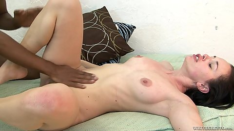 Pussy touching and big black cock dick polishing with mouth Alana Cruise