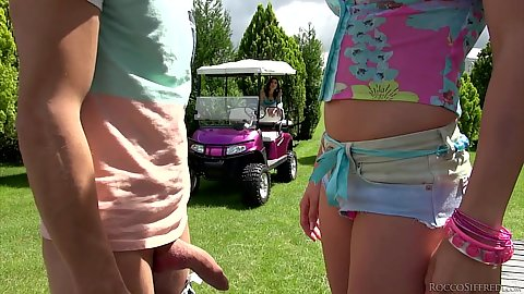 Right little hotpants on desperate sluts Christen Courtney and Julia Roca