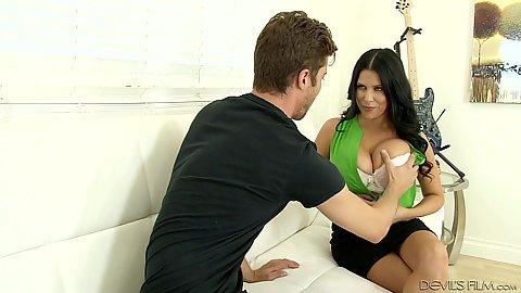 Stripping naked latina milf in miniskirt Lacie James
