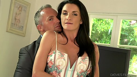 Brunette milf and blonde mistress Zoe Parker and Silvia Saige share husband