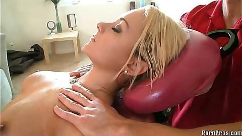 Hardcore fucking Briana on the massage table