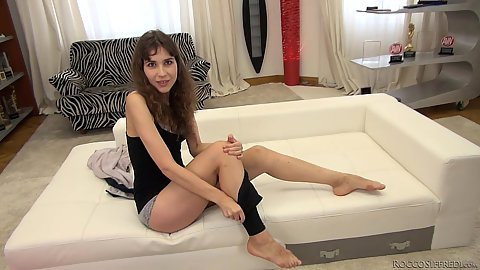 Julie Q getting undressed and groped in pov