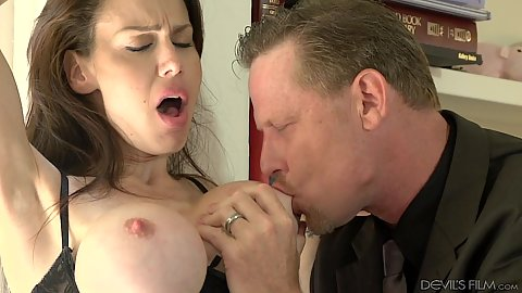 Firm big titties Mckenzie Lee having her nipples licked