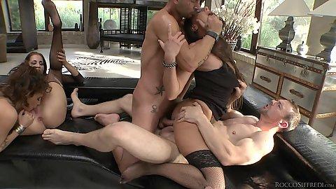Double penetration and rough fuck from whore academy Arteya and Lauren Minardi