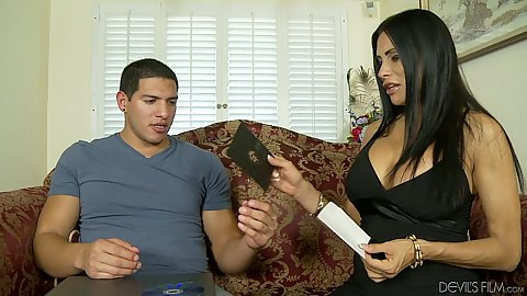 Brunette latina fully clothed milf Sheila Marie