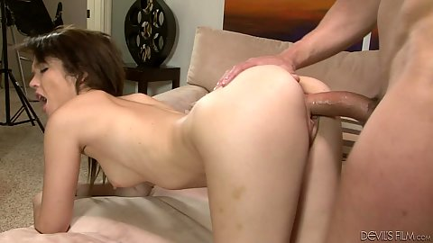 Nice young girl Tiffany Fox doing try out fuck