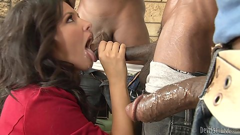 Big black cock one after the other oral Danica Dillon