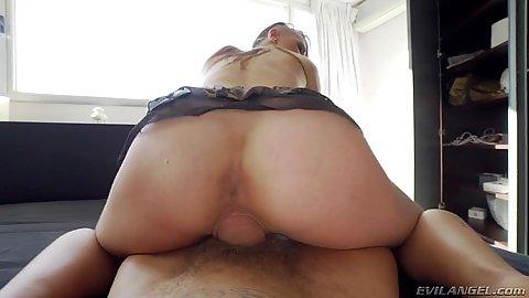 Dominated slut Sandy Alser moans with pleasure