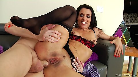 Sideways anal tapping small chested latina milf Samia Duarte