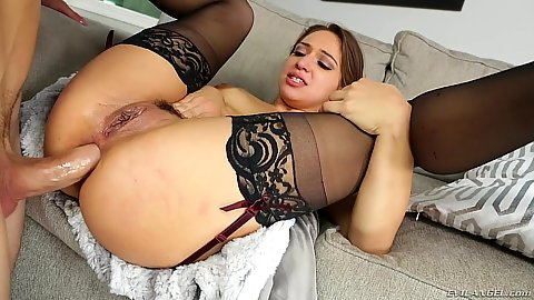Spreading legs for a very relaxing anal plowing Sara Luvv