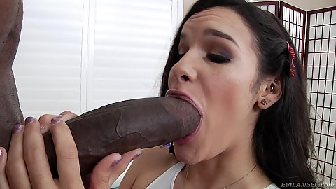 Huge black cock for small mouthed Eden Sin