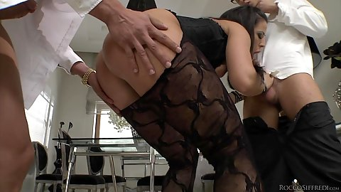 Bent over bubble butt Athina in for a fucking