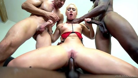 Reverse cowgirl squirting girl in gang bang AJ Applegate