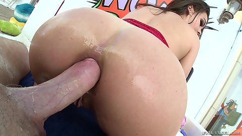 Anal sex with stretching and scorched Kimber Woods