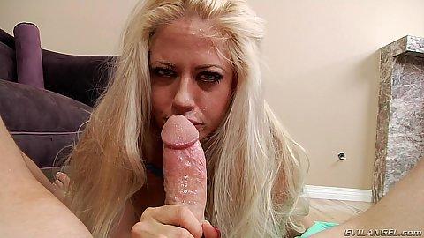 Captivating milf Holly Heart pov sloppy oral sex