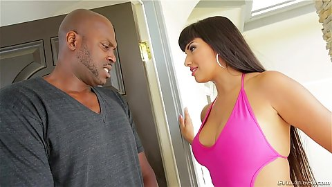 Latina babe interracial Mercedes Carrera vaginal fuck
