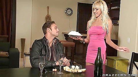 Big tits wife gets a freebie fuck from husband