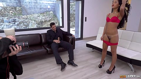 Sexy cutie Apolonia showing her snatch and gets a cock in her hole while in America