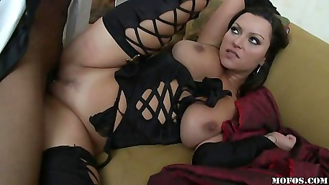 Big black cock and Nikita with her big tits
