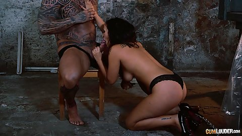 Steaming oral fuck with Claudia Bavel