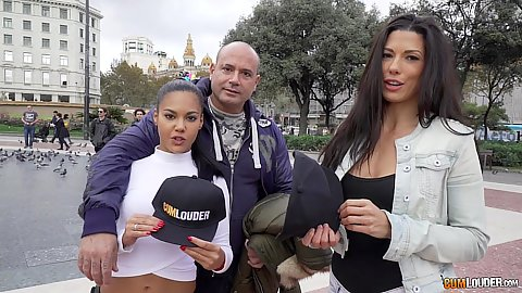 Apolonia and Alexa Tomas out promoting their new cumlouder caps