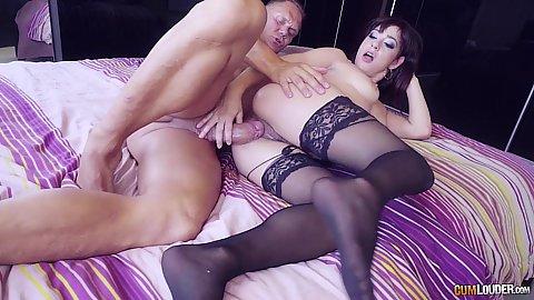 Lucía Nieto sideways nailed on bed