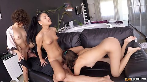 Apolonia and Melody Petite with Frida Sante share dick in happy orgy Spain vs Mexico