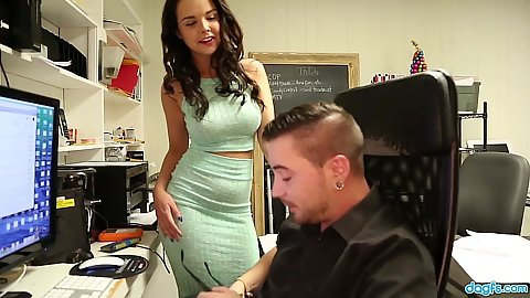 Dillion Harper in the office and needing quick attention