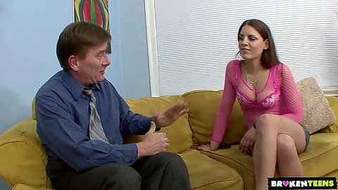 Fully clothed girl Rochelle Ryder stepdad seduction