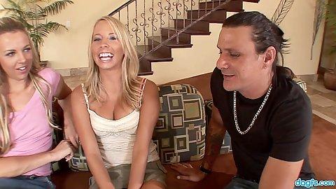 Talking about sex then sucking shaft Bree Barrett and Ashley Jensen